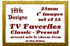 "Precut Bottle Cap Images Set of 15 1"" (25mm) ~ TV Favorites Present and Past $1.69 USD on eBay"