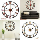 17.7 Large Outdoor Indoor Retro Style Garden Wall Clock Big Roman Numerals US