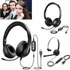 Mpow USB Computer Headset Wired Over Ear Headphones Mic For PC Phone Call Centre