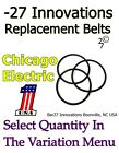Replacement Drive Belts CHICAGO ELECTRIC Rock Tumbler Harbor Freight brass