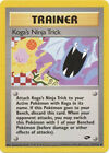 Koga's Ninja Trick Trainer Uncommon Pokemon Card Gym Challenge 115/132