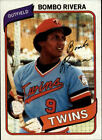 1980 Topps Baseball Pick Complete Your Set #1-250 RC Stars ***FREE SHIPPING***