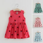 Toddler Baby Kids Girls Sleeveless Summer Print Party Beach Casual Dress Clothes
