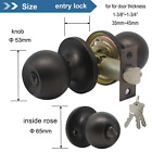 Round Privacy Door Knobs Passage Handles Oil Rubbed Bronze Front Entry Lock