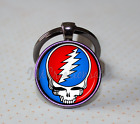 Grateful Dead Steal Your Face Music Lovers KEYCHAIN Key Ring