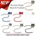 """Q-Link Brand 30"""" Color Coded Bead & Faceted Chains for SRT-3 Pendant│All Colours"""