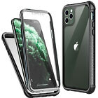 For iPhone 11 Pro Max X XS XR Case Clear Full body Cover w/t Screen Protector