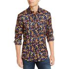 Club Room Mens York Cotton Floral Long Sleeve Button-Down Shirt BHFO 9053 <br/> Guaranteed Authentic  Club Room Sugg. Price:  $55.00