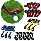 10Pcs Padded Golf Club Iron Head Covers Headcover Golf Protection Case Sock Set