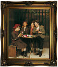 Brown Tough Customers 1881 Wood Framed Canvas Print Repro 20x24