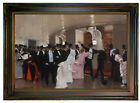 Beraud An Argument in Corridors of Opera Wood Framed Canvas Print Repro 12x18