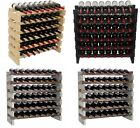 Stackable Modular Wine Storage Racks Shelves Free Standing, Thick REAL Wood