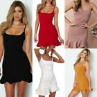 Women's Summer Chiffon Party Boho  Evening Beach Short Mini Dress Sundress