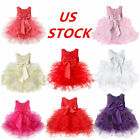 US Baby Girls Flower Dress Toddler Wedding Pageant Party Princess Skirts Costume
