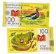 Banknote 100 rubles Red-breasted goose Red Book Russia Polymeric photo