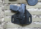 Springfield Hellcat Vertical Carry Pancake Leather Holster. Made in USA