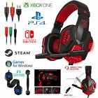 Gaming Headset PC Gamer Stereo Headphones with Mic for PS4 Xbox One Switch ⑤US