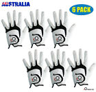 Men's Golf Gloves 6 Pack Left Right Handed Cabretta Leather S M L XL All Weather