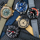 Sailcloth Quick Release Watch Strap Canvas Leather Band Nylon Pilot Military QR image