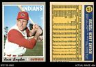 1970 Topps #347 Russ Snyder Indians 4 - VG/EXBaseball Cards - 213