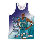 Larry Johnson Charlotte Hornets Behind The Back HWC Throwback NBA Tank on eBay