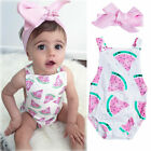 FixedPrice2pcs newborn baby girl clothes watermelon romper jumpsuit outfit summer