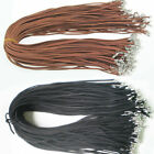 10/50pcs Black Brown Suede Leather String Necklace Jewelry DIY Cord Making F5B6 image