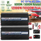 12000W Peak Power Inverter 12VDC to 110V / 220VAC Double USB Sine Wave Converter