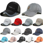 Womens Mens Plain Peaked Outdoor Mesh Cap Breathable Baseball Sports Anti-uv Hat