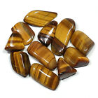 Tiger's Eye Tumbled Polished Natural Stones Small Size, 3 Set Sizes, Your Choice
