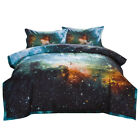 Reversible Quilted Comforter Set Galaxies Outer Space Sky Printing Bedding Sets image