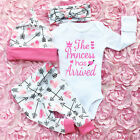 FixedPricenewborn baby girls clothes romper jumpsuit + floral pants leggings outfit set