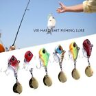 6pc Fishing Lures Bass Baits Metal Vibration Spinner Spoon Treble Hook Crankbait