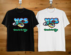YES Close to the edge Band Logo Black and White Men's T-Shirt Size S to 2XL image