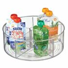 mDesign Divided Lazy Susan Turntable Storage Tray