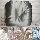 100% Mulberry silk Boppy lounger pillowcase with cotton back and laundry bag