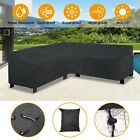 Waterproof L Shape Rattan Corner Furniture Cover Garden Outdoor Sofa Protector