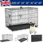 Dog Cage Cozy Pet Puppy Crate Metal with Tray 5 SIZES: 18