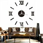 3D DIY Extra Large Roman Numerals Luxury Mirror Wall Sticker Clock Home Decor