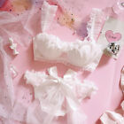 White Wedding Hanayome Petals Bra & Panties Set Underwire Underwear Lolita Cute