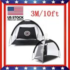1M/2M/3M Foldable Golf Driving Cage Practice Hitting Net Outdoor Trainer +Bag US