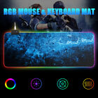 RGB LED Extended Gaming Mouse Pad Large Size Desk Keyboard Mat 800MM X 300MM
