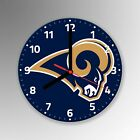Las Angeles Rams American Football NFL Glass Clock