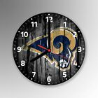 Los Angeles Rams American Football Glass Clock