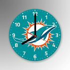 Miami Dolphins American Football NFL Glass Clock