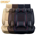 Car 5 Seat Covers Full Set Waterproof Leather Universal for Auto Sedan SUV Truck $81.69 USD on eBay