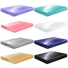 Satin Silk Fitted Bed Sheet with Deep Pocket Twin Full Queen King Soft & Smooth image