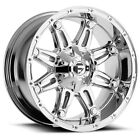 "4-Fuel D530 Hostage 20x10 6x135/6x5.5"" -18mm Chrome Wheels Rims 20"" Inch"