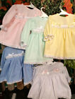 DREAM BABY GIRLS autumn pastels long sleeved dress choice of 5 colours