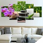 Relax Stone Candled Orchid Poster Wall Art Spa Resort Home Decor 5p Canvas Print